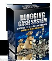 Blogging Cash System - eBook GELD VERDIENEN Blog Blogs Internet Web NEU Wow MRR