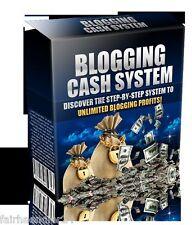 Blogging Cash System-ebook ganar dinero blog blogs internet Web nuevo Wow MRR