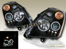 FIT FOR 2007-2009 SENTRA DUAL CCFL HALO & L.E.D. BLACK PROJECTOR HEADLIGHTS NEW