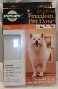 Petsafe Aluminum Locking Front Pet Door Medium Dog 1-40 lbs PPA00-10860