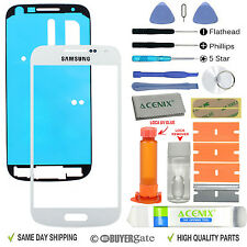 Samsung Galaxy S4 Mini Front Glass Lens Screen Replacement Kit White + UV Glue