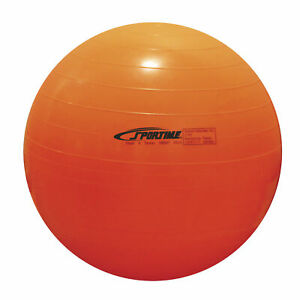 Sportime Economy Play and Exercise Ball, 21-1/2 Inches, Orange