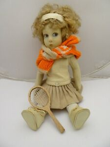 """1925 Series 149 Lenci Tennis Player 17"""", Early Doll in Nice Condition"""