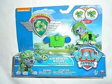 """Nickelodeon Paw Patrol Air Rescue Rocky Pack Pup & Badge """"NEW"""""""