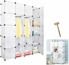 20 Cube DIY Plastic Wardrobe Cupboard Closet Cabinet Organizer Storage Furniture