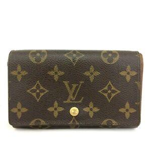 Louis Vuitton Monogram Porte Monnaie Billets Tresor Bifold Wallet /C1078
