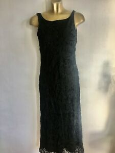 Marks & Spencer black sparkle full length dress size UK 8