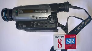 SONY CCD-TR620E ANALOGUE CAMCORDER ( 8mm Video 8 Playback SP/LP ) + Accessories