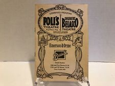 1928POLI'S THEATRE/SHUBERT BELASCO THEATRE Program Washington DC -Walter Hampden