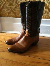 JUSTIN roper cowboy equestrian western horse riding mens boots sz 7.5D