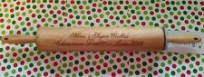 Personalized Wood Rolling Pin Nana's Sugar Cookies Christmas Tradition Gift