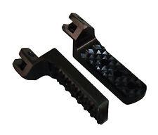 Knight Design 1-1/4in Lower Foot Pegs, BMW K1200S 2003-2008, Black Quadtrax