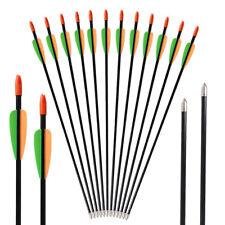 "28"" Archery Fiberglass Arrows Youth Kids Target Practice Arrows 7mm Recruve Bow"