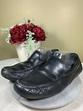 Sperry AVS Top sider Black Leather Slip On Moccasins Casual Shoes Mens Size 13 M