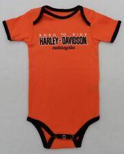 Harley-Davidson Newborn Orange Born To Ride Creeper 3-6 Month