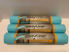 Duck Brand Easy Liner Shelf Liners Clear Classic Refrigerator Teal Kitchen Bath