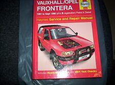 Haynes Repair Manual Vauxhall/Opel Frontera Petrol & Diesel (91 - Sept 98)