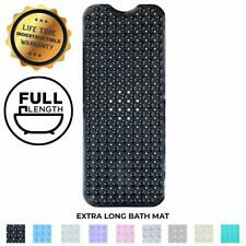 Enkosi Extra Large Long Non Slip Bathroom Bath Mat For Tub And Shower (Black)