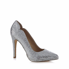Call It Spring Sheill Womens UK 6 EU 39 Silver High Heel Pointed Court Shoes New