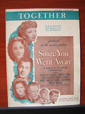 Together from Since You Went Away -1944 sheet music -vocal, piano, guitar chords