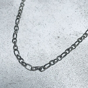 BN Urban Outfitters Mens Silver Mixed Link Chain Necklace Utility RRP £18