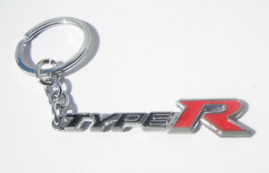 Type R Keyring Chrome Metal Keychain Gift Boxed