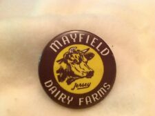 Mayfield Dairy Farms Jersey Cows Vintage Pin Back Button