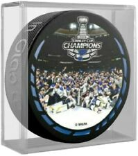 St. Louis Blues 2019 Stanley Cup Celebration Photo Hockey Puck (in Display Cube)