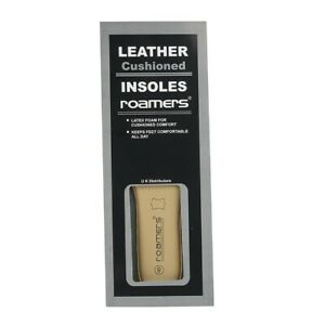Roamers Deluxe Padded Leather Insoles Comfort Long Wearing Size 5 -14 UK