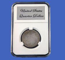 Elite Slab Coin Holder Early US Quarter Etched Metal Label Little Bear