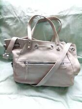 Beige Leather Handbag VALENTINA Italy Shoulder Handbag Medium Hobo Bag Purse