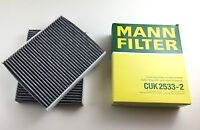 2 x Aktivkohlefilter Innenraumfilter MANN-Filter Made in Germany BMW 5er 6er 7er