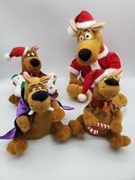 Lot of 4 Vintage Gemmy Scooby Doo Holiday Plush NO MOTION SOUND ONLY