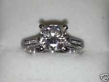 2.37 Ct Brilliant Cut Moissanite Engagement Wedding Ring Solid 18ct White Gold