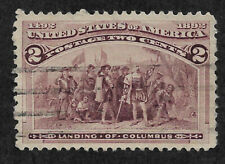 US # 231 (1893) 2c Landing of Columbus - Used - XF