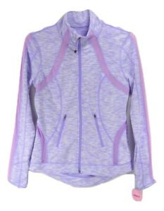 NWT Tangerine Yoga Jacket Dusty lilac Poly Lycra Full Zip up Mesh Insert Jacke S