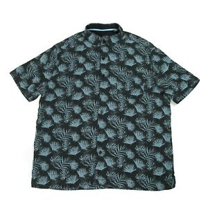 NAT NAST Silk Hawaiian Shirt | Men's L | Button Retro Aloha Graphic Vintage