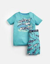 Joules Boys Rowley Short Pyjama Set  - GREEN SKELETON SHARK Size 1yr