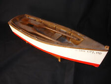 Painted Wood Boat With Two Paddles Nautical Sailing Ocean City Maryland