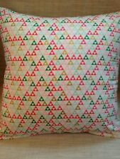 Cushion covers Made In Jen Allyson - Triangle white on sparkle fabric