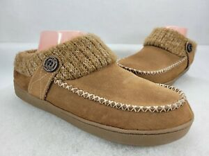 Earth Spirit Womens Cloudease WMES40ER024 Brown Leather Clog Slippers Size 9-10