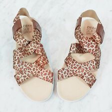 [ ZIERA ] Womens Leopard Print Utah Sandals Shoes RRP$149   Size 36 W