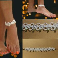 Handmade tatted lace Anklet