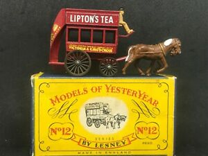Matchbox Yesteryear Y12 Series 1 Issue 4 London Horse Drawn Bus In Orig C Box