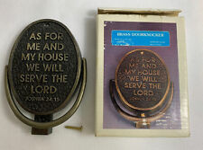 Vintage Brass Door Knocker As For Me And My House Joshua 24:15 House of Lloyd