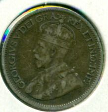 1913 CANADA TEN CENTS, SMALL LEAVES, VERY FINE, GREAT PRICE!