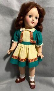 Vintage Toni Doll P-91 with Auburn Hair and Original Dress