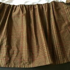 CHAPS by RALPH LAUREN Summerton FULL Size Bedskirt Brown Red Houndstooth Plaid