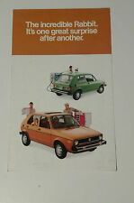 VW RABBIT CATALOGO DEPLIANT BROCHURE USA NOS