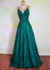 "GREEN PROM 2020 EVENING PAGEANT FORMAL BALL GALA DRESS WEDDING GOWN M 8 ""JOLENE"""